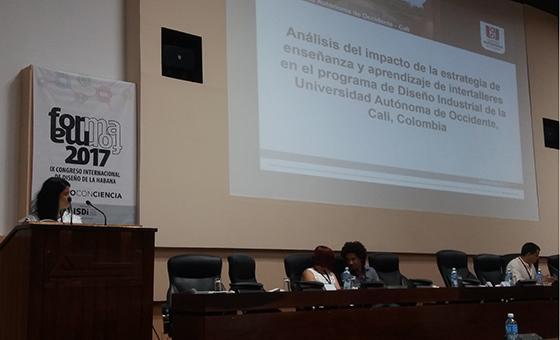 Docentes presentaron ponencia en IX Congreso Internacional de Diseño de La Habana