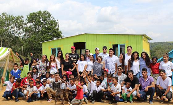 5 casitas interactivas para niños de la vereda del Chontaduro