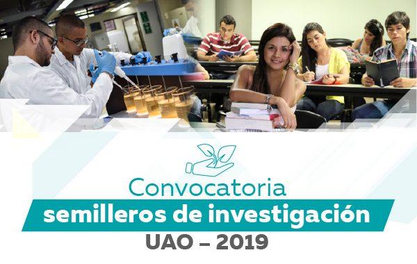 Convocatoria para presentación de semilleros de investigación financiado con recursos UAO