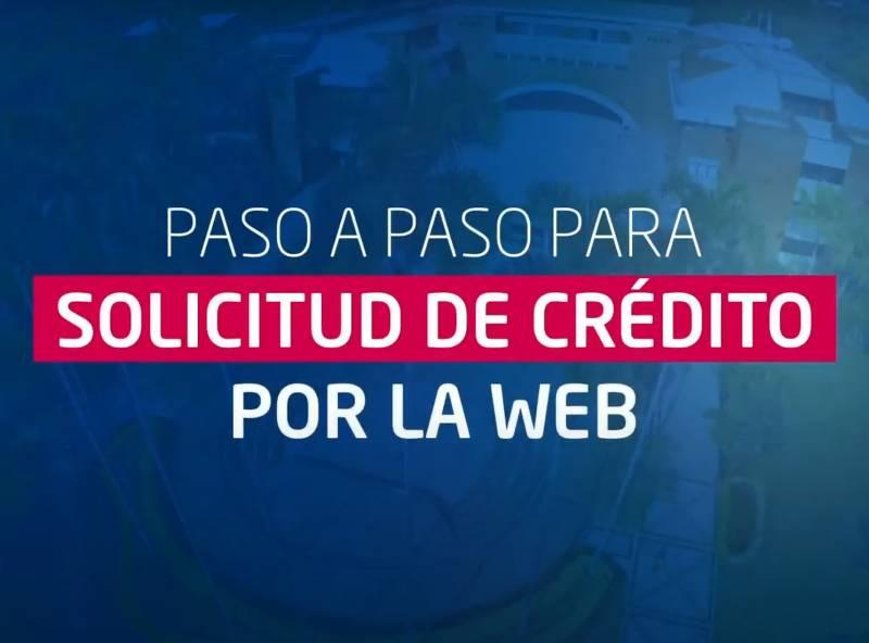 solicitud de crédito por la web