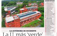 Noticia publicada en el Diario Portafolio: La U más 'verde'