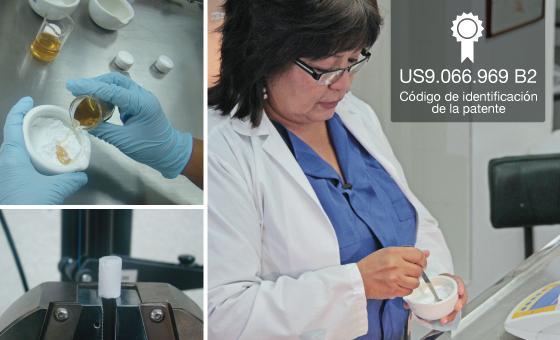 Biocomposite for Bone regeneration with international patent