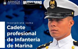 Incorporate como cadete profesional de infantería de marina